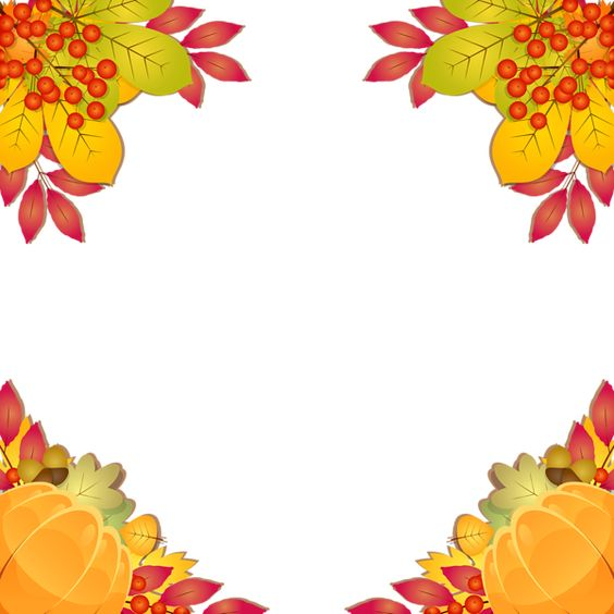 Fall Frame Border PNG Clipart Image