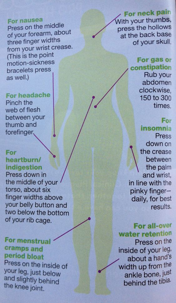 Acupressure points you should know and use. #backinmotion.us