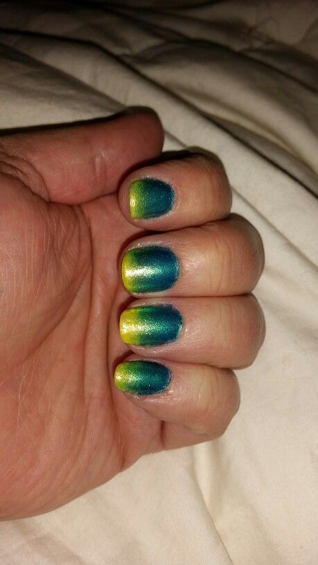 Teal, sea green and yellow gradient