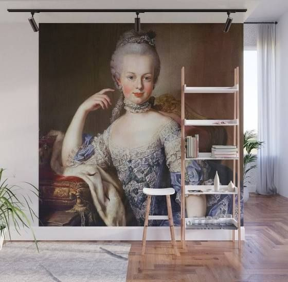 Marie Antoinette Young 1 Wall Mural By Dohshin 8 X 8 Google Shopping Wall Murals Mural Marie Antoinette