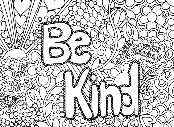 Doodle art and challenging coloring pages for older kids for Therapeutic coloring pages for children