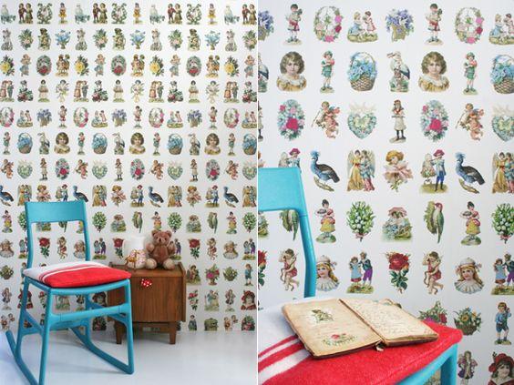 Decoração vintage começa nas paredes #byfloor #papeldeparede #wallpaper #wallpapervintage