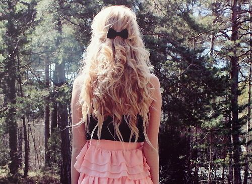 When curling your hair, don't curl the ends!