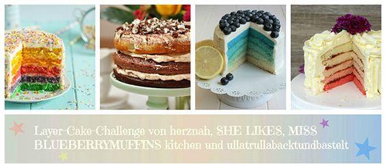 Rainbow Cake - eine Layer Cake Challenge - herznah