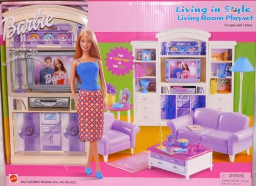 barbie living room set living room furniture living in style new mattel 12356