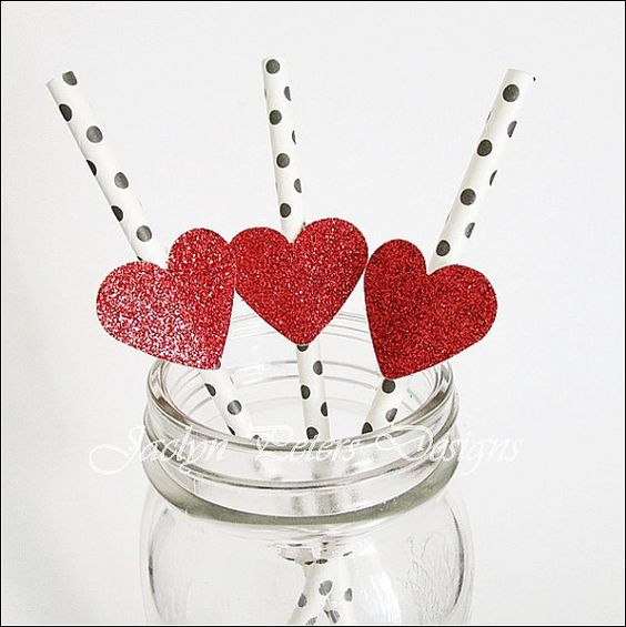 Hey, I found this really awesome Etsy listing at https://www.etsy.com/listing/214648603/glitter-heart-party-straws-red-black-and