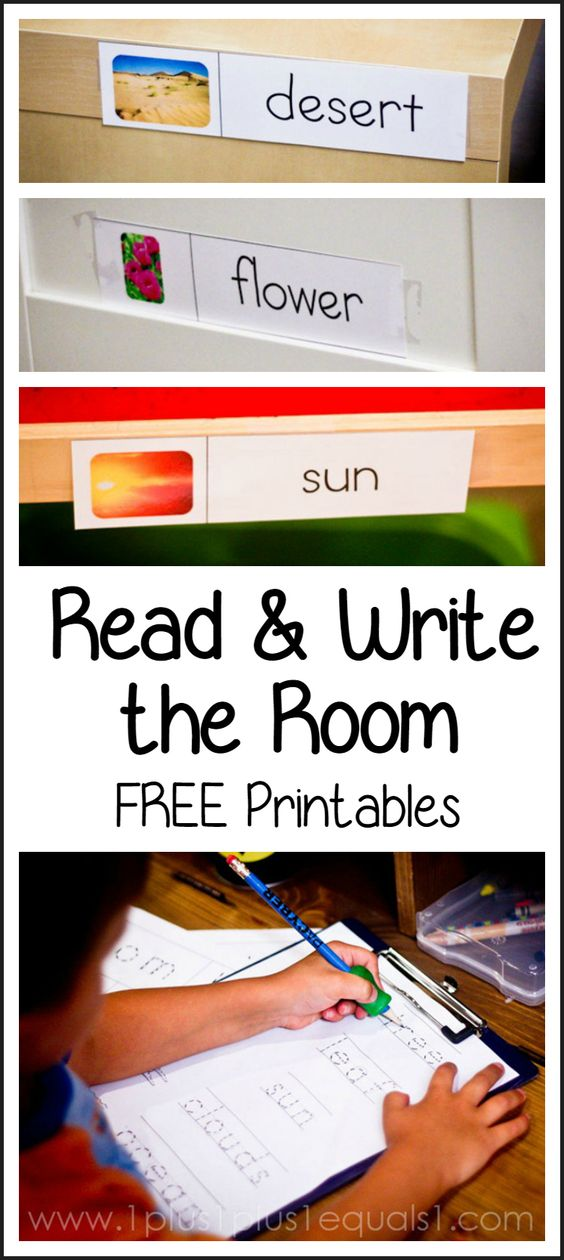 Read and Write the Room Printables ~ many themes, all free!  Great for Kindergarten literacy!