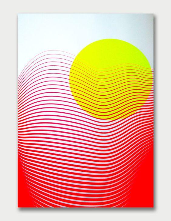 Abstract Silkscreen by Kate Banazi