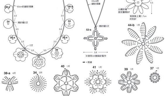 crochet necklace chart