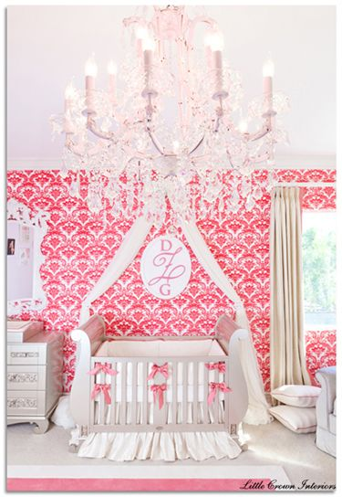 Showstopping Pink Royal-Inspired Nursery for a Baby Girl | projectnursery.com