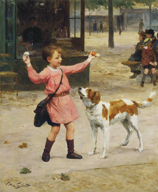 """The Reward"" -- Victor Gabriel Gilbert (1847 – 1933, French)"