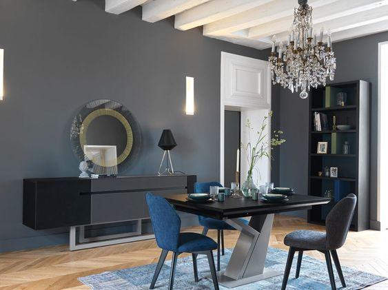Gautier Courbevoie La Defense On Instagram S E J O U R Grande Enfilade Adulis Finition Noir Mat Bibliotheque Preface Home Decor Living Dining Room Decor