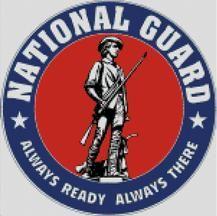 Cross Stitch Chart Pattern of the US National Guard