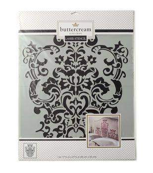 Buttercream™ Collection Extra Large Stencil-Regal Damask