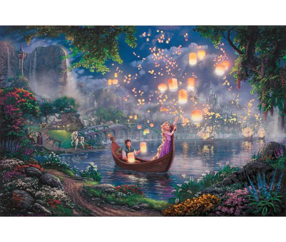 disney thomas kinkade disney and tangled on pinterest