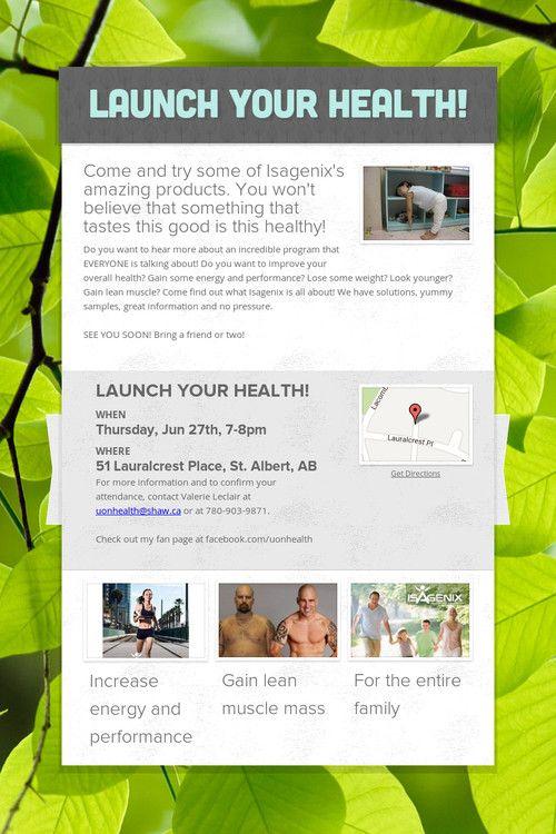 Isagenix Launch Party Invitation Templates Premium Invitation