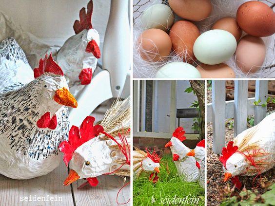 seidenfeins Blog vom schönen Landleben: ... die ersten echten Hühner sind da * now my first hens are at Home !