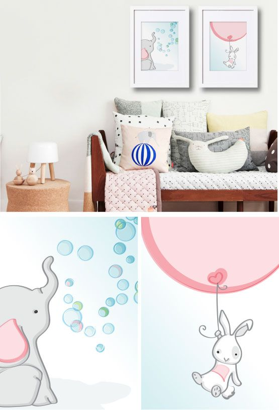 Elifun Art Prints Blow bubbles or float around with a balloon - its fun! https://www.facebook.com/MoomaDecor