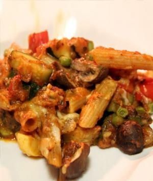 Healthy Baked Penne w Vegetables
