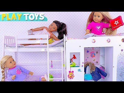 Baby Dolls Pillow Fight In Bunk Bedroom Youtube