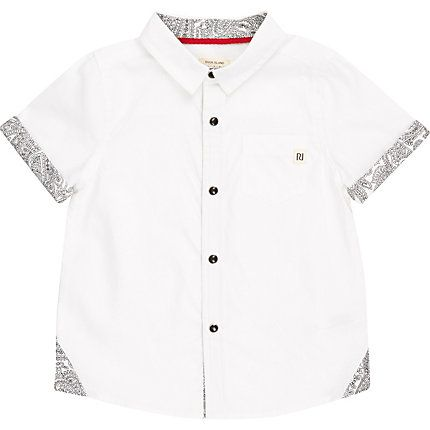 Mini boys white bandana print shirt £10.00
