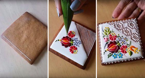 Węgierska artystka przemienia zwykłe ciasteczka w małe dzieła sztuki, dekorując je ludowymi motywami.