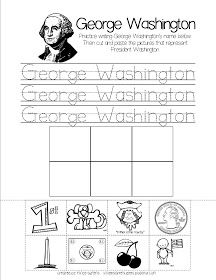kindergarten kidlets: Belated President's Day...