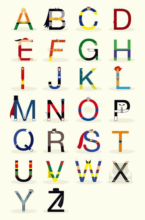 ABCs of Superheros. William will love this