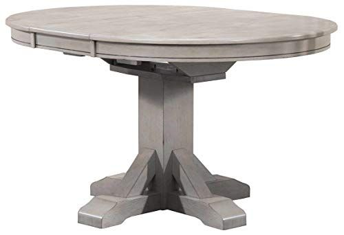 Wood Dining Table With 1 Leaf Trestle Pedestal Base Dining Table