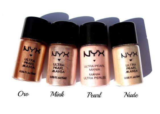 NYX Loose Pearl Eyes shadow - $3  Shades I like: Nude, mink, oro, mocha  I OWN PEARL ALREADY