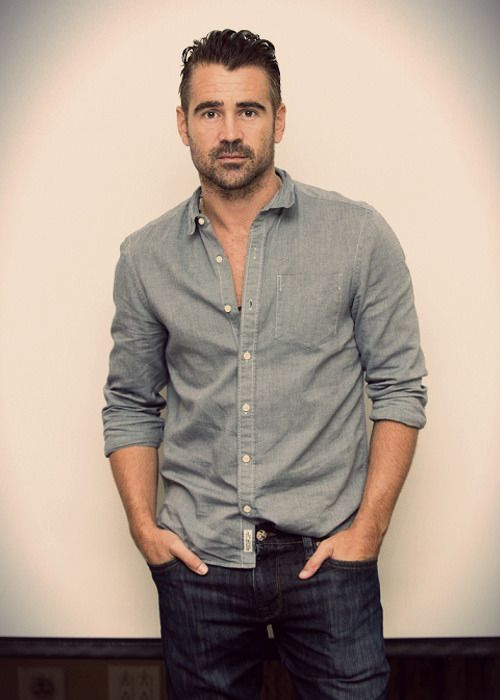 Colin Farrell's style with beard