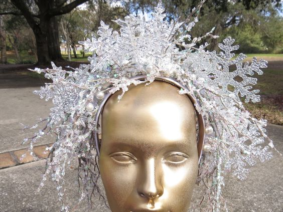 CROWN OF ICE  Ice Queen Style Headdress by CoquettishlyAdorned, $84.00