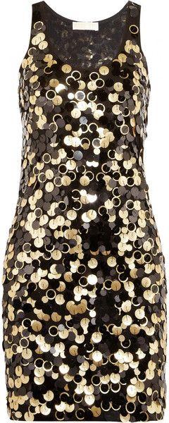 Michael Kors Paillette Embellished Jersey Mini Dress