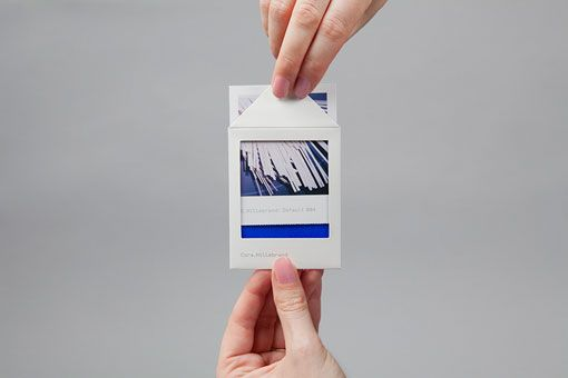 Lundgren + Lindqvist: Cora Hillebrand Identity   As apromotion forartistCora Hillebrand,Lundgren + Lindqvistdeveloped these printed pieces that combine the functionality of abusiness card and mini portfolio, in the format of aPolaroid. Super cute!   designworklife