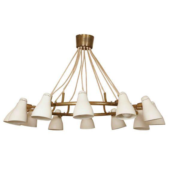 oluce chandelier | hängeleuchten, möbel und beleuchtung, Innenarchitektur ideen