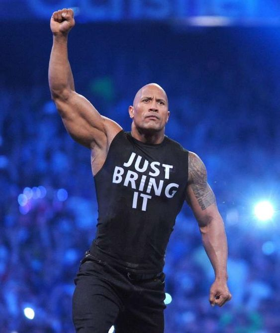 "Dwayne Johnson: ""The Rock"" zurück im Wrestling-Ring! Like the Rock says Don't sing it ..Just bring it !"