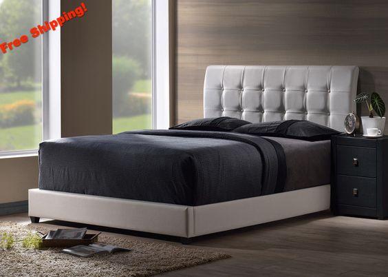1283 Lusso Twin Bed Set w/ Rails