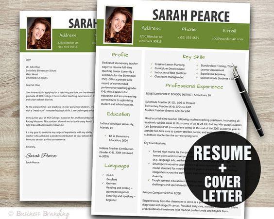 Modern Resume Template   Resume Cover Letter by BusinessBranding - resume templates modern
