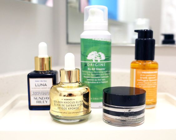 Sephora Future Naturals Beauty Review: Sunday Riley Luna Sleeping Night Oil, boscia Charcoal Pore Pudding, Korres Golden Krocus Saffron Elixir, Ole Henriksen Truth Serum, Origins By All Greens Detoxifying Mask