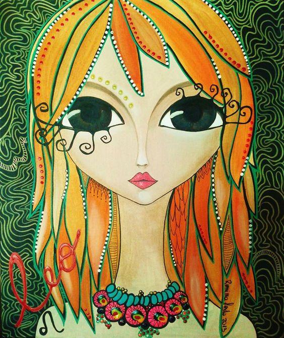 Romi lerda mujer leo dibujos pinterest obras de arte for Pinterest obras de arte