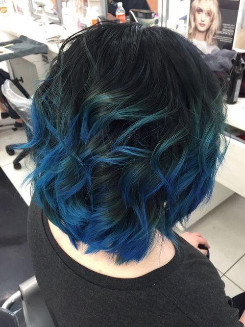 Popular Short Blue Hair Ideas In 2019 Short Hair Balayage Short