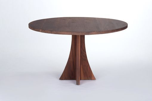 Hand Crafted Solid Walnut Round Dining Table By The Urban