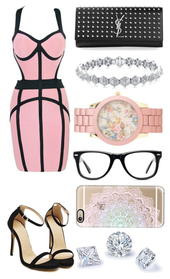 """Date Night"" by aaliyahsalmon ❤ liked on Polyvore featuring Yves Saint Laurent, Aéropostale, Muse and Casetify"