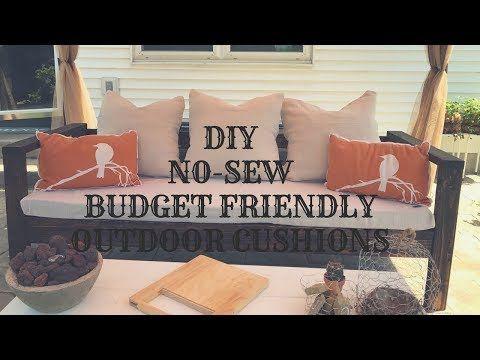 Diy No Sew Budget Friendly Outdoor Cushions Youtube Diy Patio