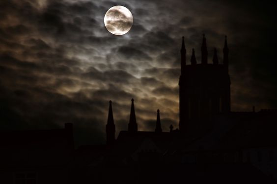 Luna Piena Silhouette Castello - Foto gratis su Pixabay