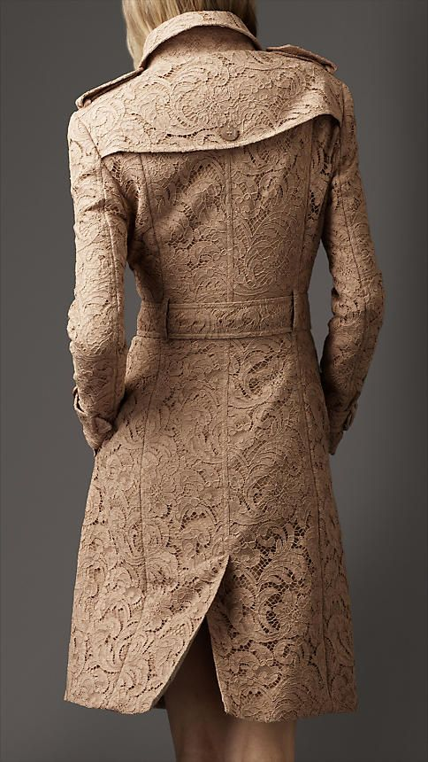 Burberry lace coat, demure