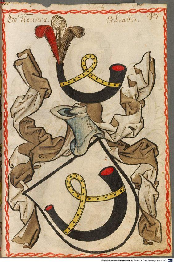 Scheibler'sches Wappenbuch Süddeutschland, um 1450 - 17. Jh. Cod.icon. 312 c  Folio 417