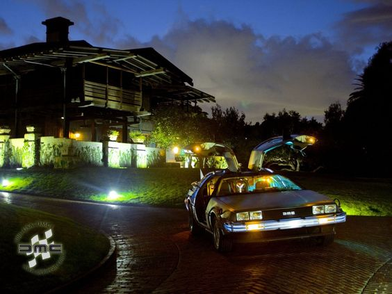 A Back to the Future Delorean. It looks flashy, but sadly this is an electric car.