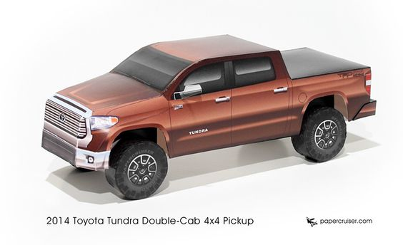 Toyota Tundra paper model | http://papercruiser.com/downloads/toyota-tundra-2014/