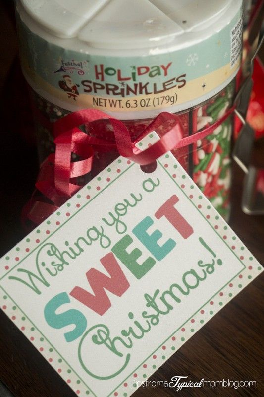 8 Quick and Easy Teacher Christmas Gift Ideas with Printable Tags - Tips from a Typical Mom